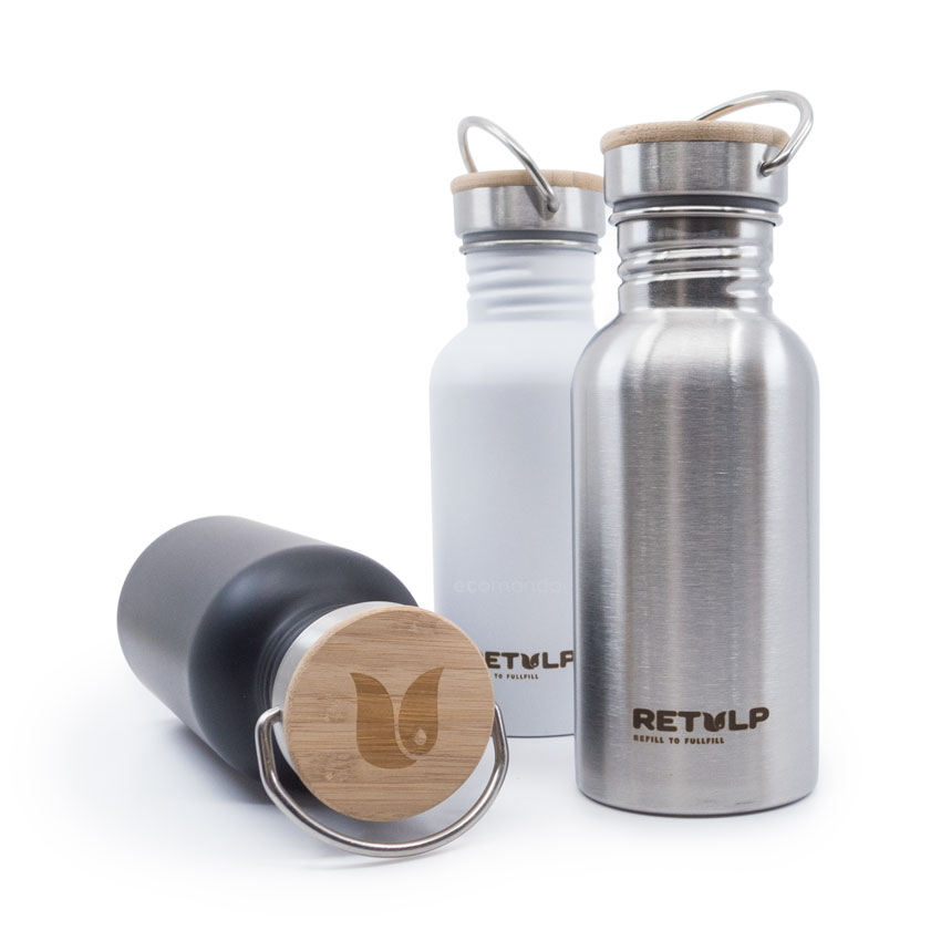 Retulp Urban Bottle Bamboe Cap 500 ml