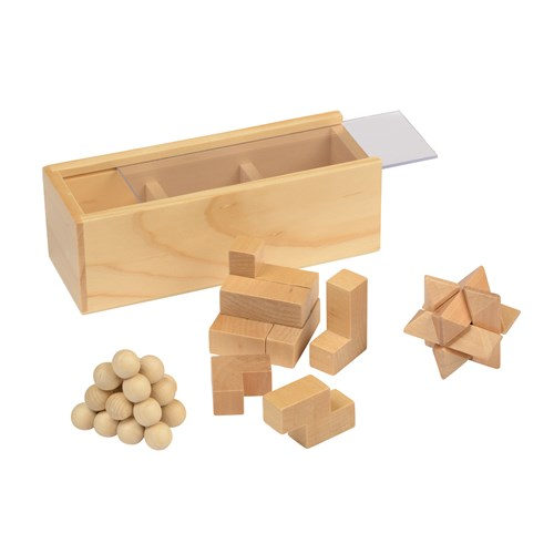 Houten puzzel set Brain Power 01