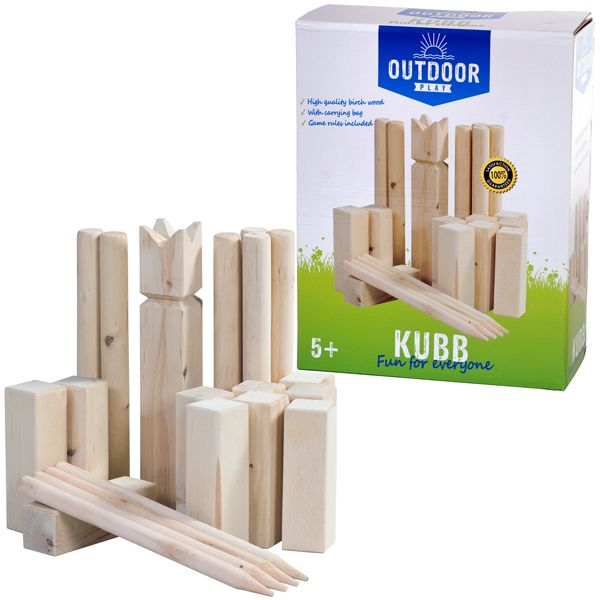 Outdoor Play Kubb Game