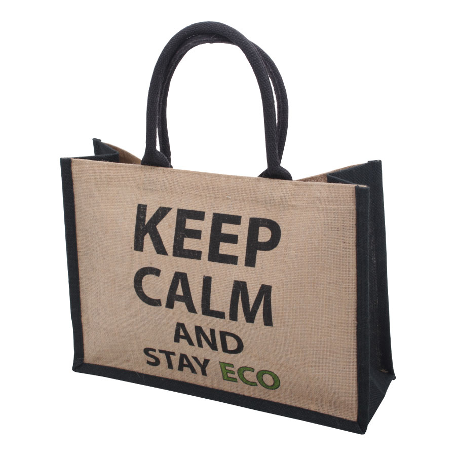Jute Eco Shopper Keep Calm