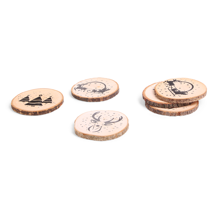 Wooden Drink Plates